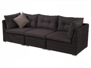 Замечательный плетеный диван из 3-х секций.