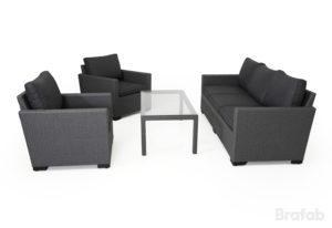 Искусственный ротанг мебель Canby set grey - комплект из ротанга для отдыха на террасе.