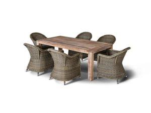 Искусственный ротанг мебель Арбаро - обеденная группа на 6 персон!