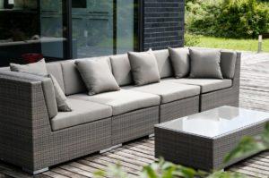 Искусственный ротанг мебель Belluno Comfort - прямой модульный диван на 4 персоны и журнальный стол!