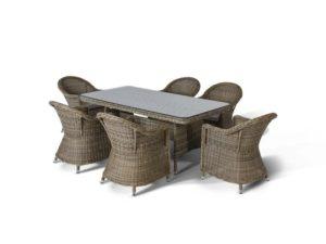 Искусственный ротанг мебель Венето - обеденная группа для вашей террасы!