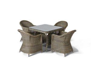 Плетеная мебель Венето малая обеденная группа 4 персоны!