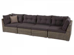 Модульный диван из искусственного ротанга для веранды.