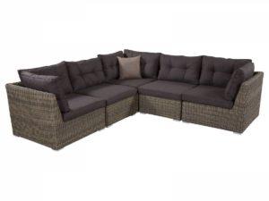 Модульный угловой диван из искусственного ротанга.