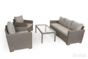 """Искусственный ротанг мебель """"Canby set beige"""" - комплект из искусственного ротанга."""