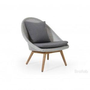 Кресло из искусственного ротанга с отделкой тиковым деревом Арт. 5478-51-07 Bellaire armchair