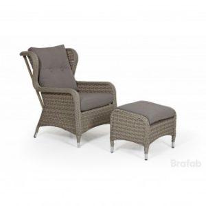 Комплект из ротанга Colby relax арт. 51231-2-25 - приятный бежевый цвет дачной мебели для отдыха от Brafab Швеция!