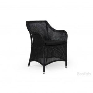 Кресло черное Costa Арт. 1088-8-8 costa armchair - искусственный ротанг кресло серии Costa от Brafab Швеция каталог 2018 года! Новинка!
