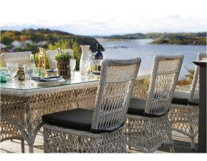 Плетеная мебель Beatrice стол 220+6 стульев - отличный выбор для загородного дома!