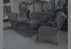 Плетеная мебель brafab-Evita grey - обеденная группа.
