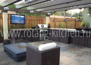 ROTANG-KITCHEN - model 2 - Искусство ротанга которое служит долго! Мебель для кухонной зоны террасы!