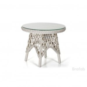 Стол Beatrice 60 - круглый стол из коллекции Искусственный ротанг Brafab Швеция Beatrice White!