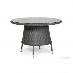 Стол ротанг искусственный Colby table Арт. 51238-7 - круглый обеденный стол на веранду диаметром 110см.