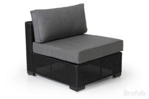 Диван из ротанга Ninja black арт. 4524-82-7 Центр - может увеличить площадь дивана серии Ninja black.