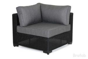 Диван из ротанга Ninja black арт. 4525-82-7 Угол модуль для построения дивана угловой формы серии Ninja black.