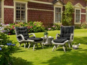 Искусственный ротанг мебель Silva grey Brafab - лаунж мебель для дачи! Высокое качество! Brafab Швеция!