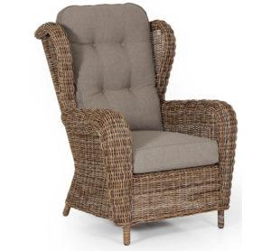 Кресло из искусственного ротанга Catherine Relax - большое качественное кресло для лаунж зоны террасы.