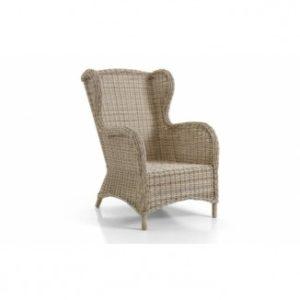 Кресло из ротанга Evita beige - круглый ротанг и бежевый цвет!