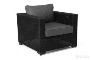 Кресло из искусственного  ротанга Ninja black арт. 4521-82-7