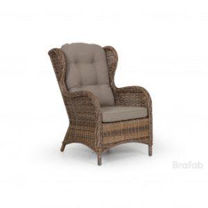 Кресло ротанг искусственный Brafab Evita цвет коричневый.