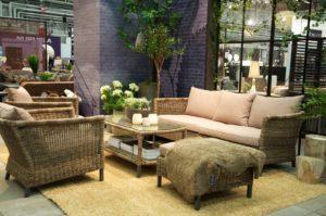 Плетеная мебель из искусственного ротанга -Menorca Lounge Brafab Швеция.