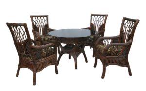 Ротанг мебель Casablanca - еще более удобная обеденная группа. Удобные кресла и стол D-110см.!