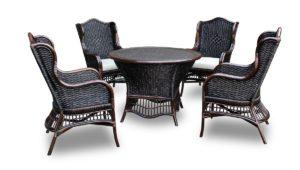 Ротанг мебель Chicago столовая группа для загородного дома.
