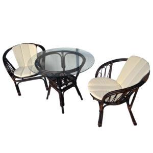 Ротанг мебель Granada 4 персоны - обеденная группа из натурального ротанга прямо из Индонезии.