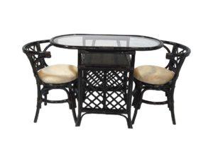 Ротанг мебель Honeymoon обеденная группа - мебель которая не займет много места!