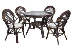 Ротанг мебель Jakarta - столовая группа - совсем не дорогая, но действительно премиального качества! Прямо из Индонезии!