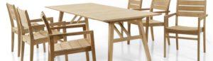 Садовая мебель из тика Chios dining set - премиальный комплект от Brafab Швеция!