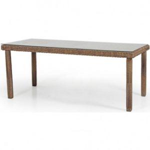 Стол из искусственного ротанга Catherine - большой обеденный стол для террасы!