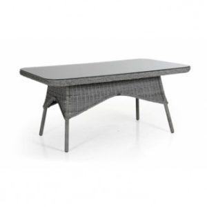 Стол из ротанга Evita grey 150 см. - обеденная группа искусственный ротанг Evita Brafab Швеция.