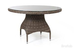 Стол из искусственного  ротанга Ninja Brown 120 см. арт. 4537-63. Круглый стол разместит 4-6 персон!