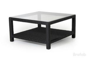 Стол из ротанга Ninja black арт. 4527-82 - кофейный стол для лаунж мебели  Ninja black Brafab.