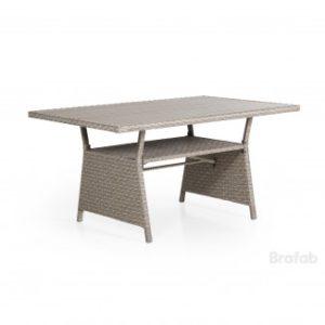 Стол из ротанга Soho 143см. - прямоугольный стол обеденный для террасы.