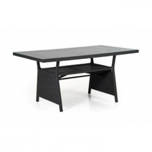 Стол из искусственного ротанга Soho 143см. цвет черный арт. 2316-8