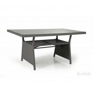 Стол из ротанга Soho 143см. цвет серый - стол для обеденной группы диванного типа  Soho grey!
