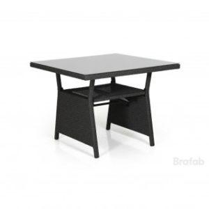 Стол из ротанга Soho 86см. цвет черный входит в состав обеденной группы Soho в черном цвете.
