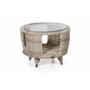 Стол журнальный Evita beige - идеальное сочетание в комплекте с креслом и табуретом Evita.