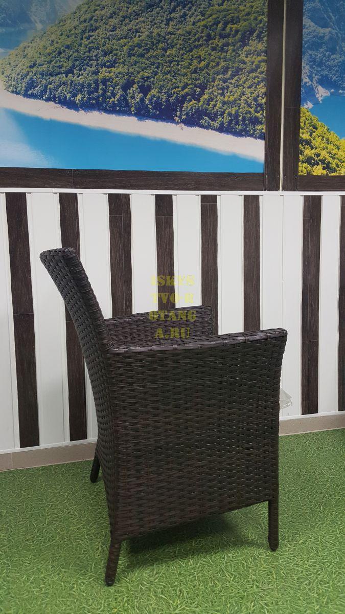 Фото-Кресло из искусственного ротанга обеденное Nina Royal brown