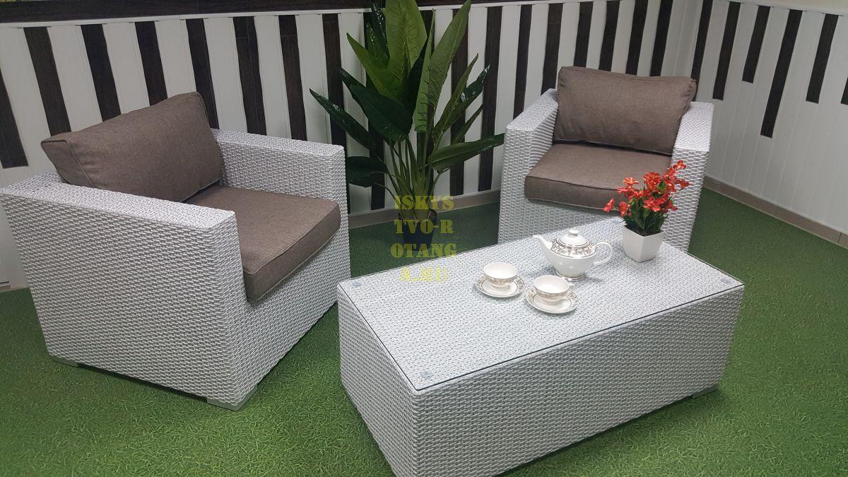 Фото-Мебель из искусственного ротанга Louisiana cafe set white&beige