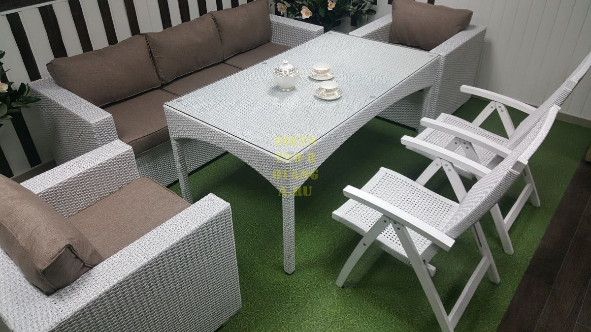 Фото-Плетеная мебель Dream white&beige