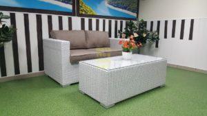 Фото-Плетеная мебель Louisiana hall set white&beige