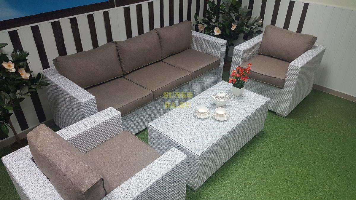 Фото-Плетеная мебель Louisiana white&beige