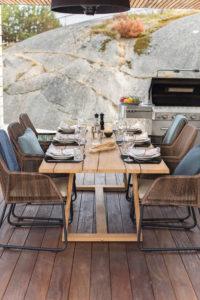 """Фото-Плетеная мебель """"Midway&Laurion"""" Brafab для столовой веранды"""