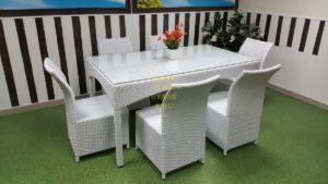 "Фото-Плетеная мебель ""Louisiana & Rose"" white"
