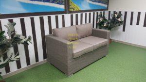 Фото-Плетеный диван Louisiana mocco 2-х местный