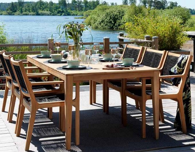 Фото-Brafab Садовая мебель из тика Agios обеденная группа