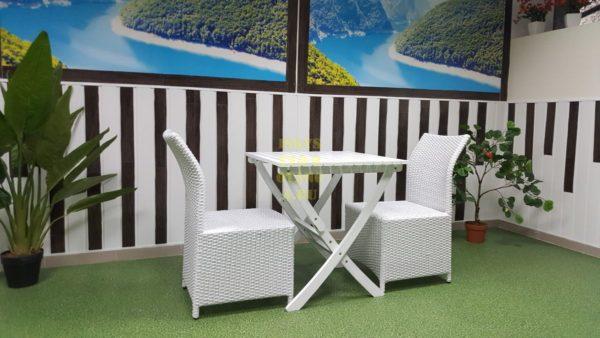 Фото-Искусственный ротанг мебель Arizona 2 white